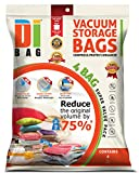 DIBAG ® 4 Bags Pack (33.46''X21.25'')(85X54 cm) Vacuum Compressed Storage Space Saver Bags for Clothing, Duvets, Bedding, Pillows, Curtains & More.Improved Version 2016