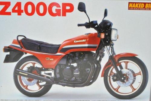 Kawasaki Z400GP Rot 049150 Kit Bausatz 1/12 Aoshima Modell Motorrad mit individiuellem Wunschkennzeichen