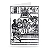 Anti-Smoking Pamphlet (woodcut) (b/w photo) .. - Greeting Card (Pack of 2) - 7x5 inch - Art247 - Standard Size - Pack Of 2