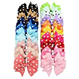 Jastore® 20 Pieces Hair Bows Girls Kids Alligator Clip Headbands Hair Clips (Dot)