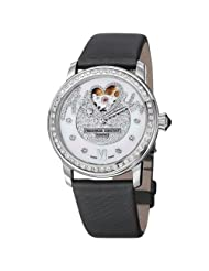 Frederique Constant Women's FC-310SQPV2PD6 LadiesAutomt Grey Satin Watch