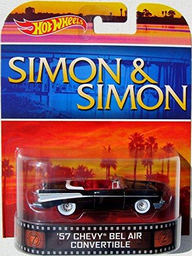 "'57 CHEVY BEL AIR CONVERIBLE ""Simon & Simon"" Hot Wheels 2014 Retro Series 1:64 Scale Collectible Die Cast Metal Toy Car Model"