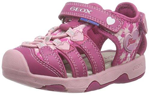 Geox B Sandal Multy Girl Scarpe Walking Baby, Bambina, Rosa (Fuchsia/Pink), 24