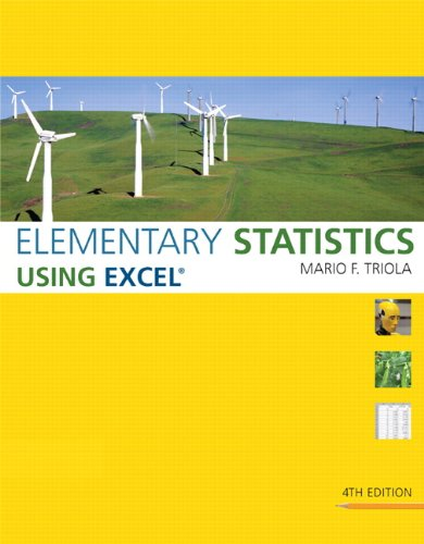 Elementary Statistics Using Excel (4th Edition)
