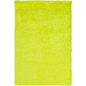vibrant lemon yellow hand tufted area throw rug kitchen dining