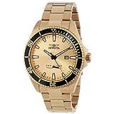 Reloj Invicta 15186SYB Pro Diver, de acero inoxidable, Dial chapeado en oro de 18k con estuche contra impactos.