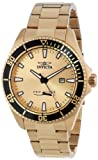 Invicta Mens 15186SYB Pro Diver Gold Dial 18k Ion-Plated Stainless Steel Watch with Impact Case