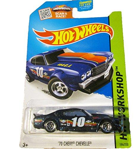 Hot Wheels, 2015 HW Workshop, '70 Chevy Chevelle [Dark Blue] Die-Cast Vehicle #194/250 - 1