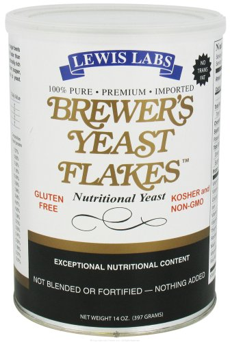 Lewis Labs - Brewer's Yeast Flakes Nutritional Yeast - 14 oz, 2 Pack (Image may vary)