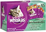 Whiskas Choice Cuts Chef's Favorites Variety Pack (Tuna, Turkey, Chicken, Beef) Food for Cats & Kittens,  2.25 lb. Pack 4 Count