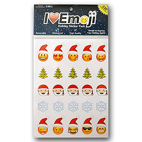 Everything Emoji Holiday Stickers | 230 Stickers | Santa, Snowflakes, Poo, Faces | Stocking Stuffers