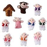 10pcs Juguete Marioneta de Mano T�teres de Dedos para Canci�n Infantil Cuento de Hadas