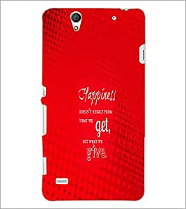 PrintDhaba Quote D-2879 Back Case Cover for SONY XPERIA C4 (Multi-Coloured)
