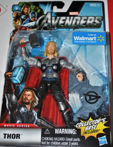 Marvel Legends Avengers Movie Exclusive 6 Inch Action Figure Thor Includes Collectors Base (Thor Action Figure 6 Inch compare prices)