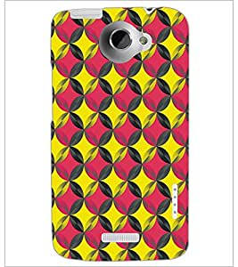 PRINTSWAG CIRCLE PATTERN Designer Back Cover Case for HTC ONE X