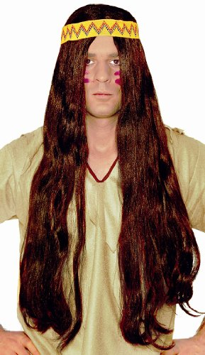 Hippie Brown Wig - Adult Std.