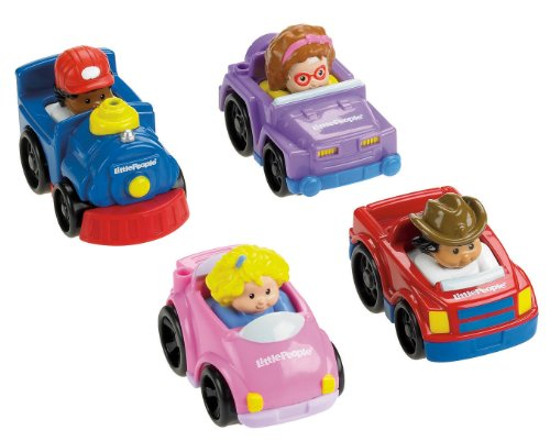 Fisher Price Little People V1626 Tucks 4 véhicules