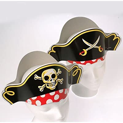 Pirate Hats and Felt Pirate Eye Patch 1 dozen by US Toy and OTC