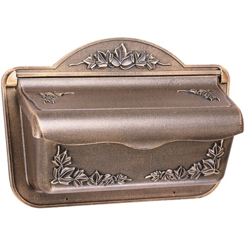 Solar Group CAH304BZ Ivy Design Cast Aluminum Wall Mount Mailbox Large