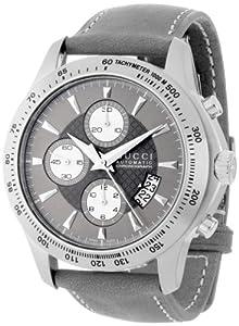 Gucci Men's YA126241 Gucci Timeless Anthracite Diamond Pattern Dial Watch