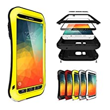 buy Note 5 Case,Cstm-4-Layer Protection Cover Case For Galaxy Note 5,5 Colors Corning Gorilla Glass Aluminum Metal Protective Case For Galaxy Note 5 (Water/Dirt/Shock Proof) (Small Waist Yellow)