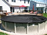 15' X 30' Oval Black Supreme Plus 15 Yr Above Ground Swimming Pool Winter Cover w/ Cover Clips