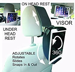 See NEW Clamp Champion Car Head Rest - Fits All Tablets and Smart Phones. Mounts Car Head Rest , Visor, Glove Box, Thigh and Plane - Ipad, Samsung, Surface, Kin Details