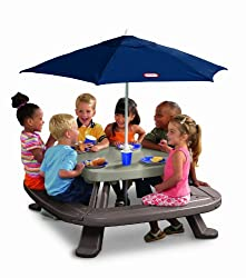Little Tikes Fold n Store Table with Market Umbrella