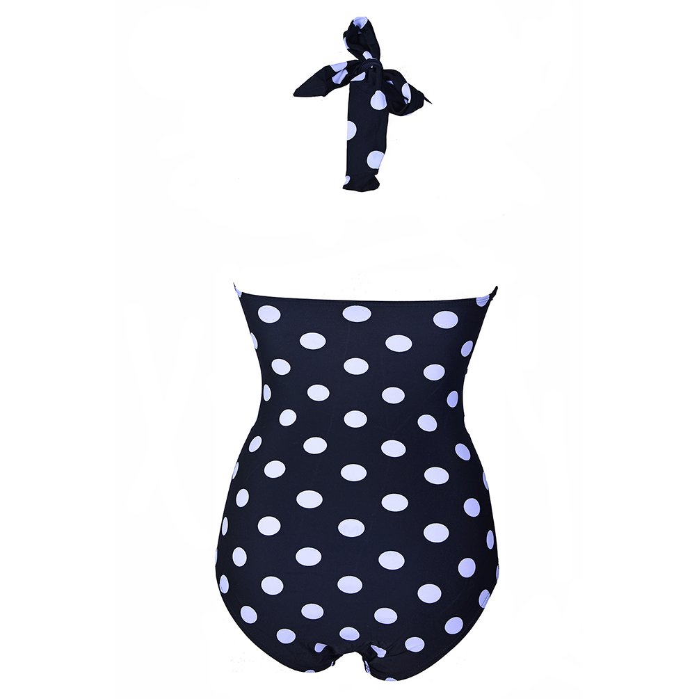 Ebuddy 50s Retro Vintage Style Polka Dot One Piece Swimwear Monokinis 4
