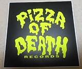 PIZZA OF DEATH(ピザオブデス)ステッカー 黒×黄