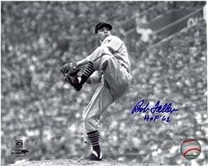 Bob Feller Autographed Cleveland Indians 8x10 Photo #6