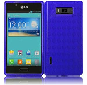 LG OPTIMUS SHOWTIME L86C / Optimus Ultimate ( Straight Talk , Net10 ) Phone Case Accessory Cool Blue TPU Skin Cover with Free Gift Aplus Pouch