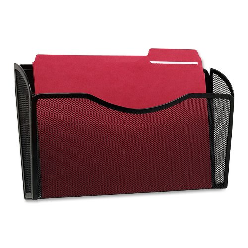 Rolodex Mesh Collection Single Pocket Wall File Black
