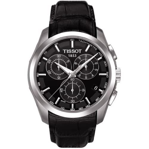 Tissot Men's Couturier T035.617.16.051.00 Black Leather Swiss Quartz