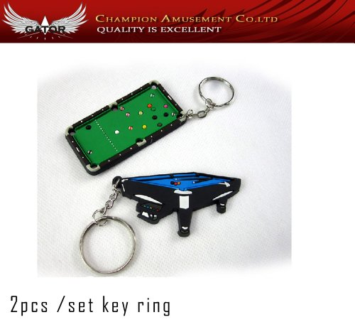 Brand New Billiard Table Key Ring For Maple Pool Cue Stick Player 2 Piece Set