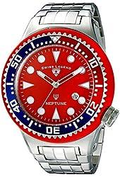 Swiss Legend Men's 21819D-55-RBL Neptune Force Analog Display Swiss Quartz Silver Watch