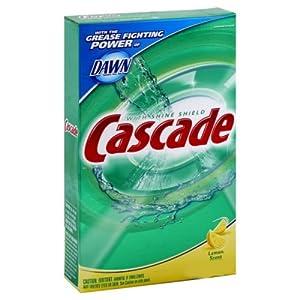 Cascade Dishwasher Detergent Powder, Lemon Scent, 45 oz (Pack of 6)