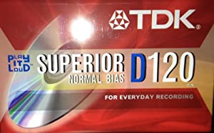 TDK Superior D120 Normal Bias Audio Cassetes - Case of 100 [120 Minutes]