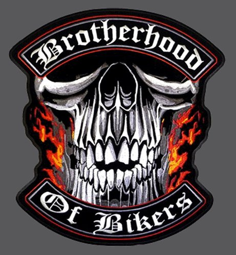 Hot Leathers Brotherhood Of Bikers Patch (12 inches)
