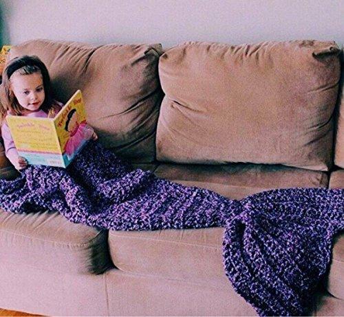 Mermaid Tail Crocheted Blanket