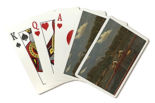 The Biglin Brothers Racing - Masterpiece Classic - Artist: Thomas Eakins c. 1872 (Playing Card Deck - 52 Card Poker Size with Jokers) (Biglin Brothers compare prices)