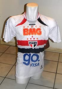 Buy SAO PAULO BRASIL SOCCER JERSEY SIZE LARGE - see measurement on listing for sizing by AGMAR
