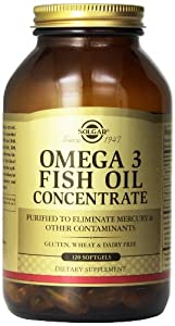 Solgar Omega-3 Fish Oil Concentrate Supplement, 120 Count
