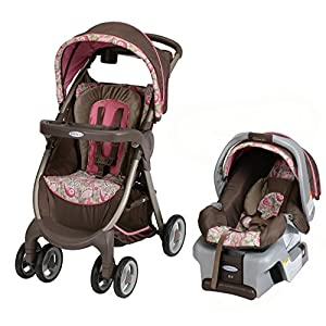 Graco FastAction Fold Classic Connect DLX Travel System, Jacqueline