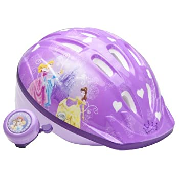 Here's the best way to keep your little princess safe while riding her bicycle or rollerblading. This bicycle safety kit for girls includes a highly visible light purple helmet plus a clip-on Princess bike bell with a loud ring. Parents will feel com...