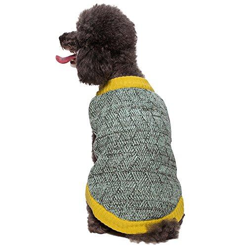 "Blueberry Pet 20"" Back Length Melange Dog Sweater In Gray And Aquamarine Blue Size Xx-Large front-489358"