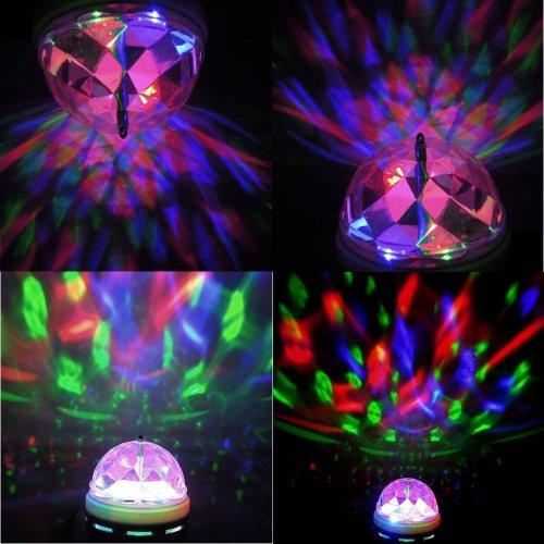 Lemonbest® Rgb 3W E27 Mini Crystal Disco Ball Light, Auto Rotating Led Dj Stage Lamp For Party Bar Club front-689660