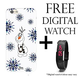 Hamee Disney Frozen Princess Licensed Hard Back Case Cover For iPhone 6 / 6s Cover with Free Digital Watch - Combo 41