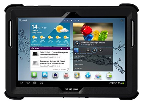 OtterBox Defender Series Case with Screen Protector and Stand for the 10.1-Inch Samsung Galaxy Tab 2 - Black (Samsung Galaxy S2 Otter Case compare prices)