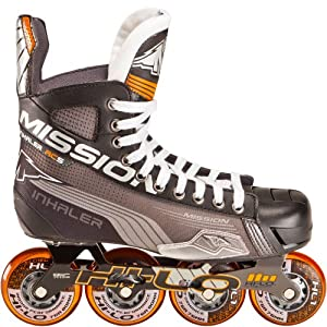 Mission Hockey Inhaler AC5 Senior Inline Hockey Skates - 8.0, E by Mission